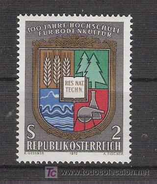AUSTRIA 1972 - CENTENARIO COLEGIO DE AGRICULTURA - YVERT 1230 *** (Sellos - Extranjero - Europa - Austria)