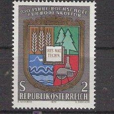 Sellos: AUSTRIA 1972 - CENTENARIO COLEGIO DE AGRICULTURA - YVERT 1230 ***. Lote 16262891