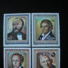 Sellos: AUSTRIA 1992 IVERT 1884/7 *** ANIVERSARIOS DE CIENTIFICOS CELEBRES - PERSONAJES. Lote 16391306