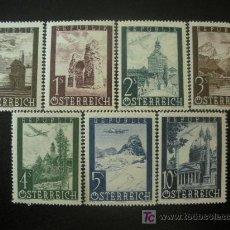 Sellos: AUSTRIA 1947 AEREO IVERT 47/52 *** VISTAS - PAISAJES Y MONUMENTOS. Lote 27446131