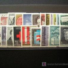 Sellos: AUSTRIA 1965 IVERT 1014/35 *** AÑO COMPLETO. Lote 190845470
