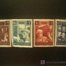 Sellos: AUSTRIA 1951 IVERT 794/7 * PRO RECONSTRUCCIÓN . Lote 20988346