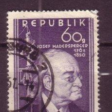 Sellos: AUSTRIA 787 - AÑO 1950 - CENTENARIO DE LA MUERTE DE JOSEF MADERSPERGER, INVENTOR - MÁQUINA DE COSER. Lote 21129316