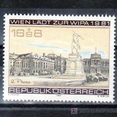 Sellos: AUSTRIA 1492 SIN CHARNELA, WIPA 1981, EXPOSICION FILATELICA INTERNACIONAL EN VIENA. Lote 21246705