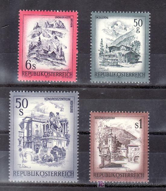 AUSTRIA 1303/6 SIN CHARNELA, PAISAJES, VALLE DE ZILLERTAL, KAHLENBERGERDORF, LINDAUERHUTTE, LA HOFGU (Sellos - Extranjero - Europa - Austria)