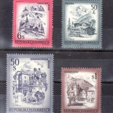 Sellos: AUSTRIA 1303/6 SIN CHARNELA, PAISAJES, VALLE DE ZILLERTAL, KAHLENBERGERDORF, LINDAUERHUTTE, LA HOFGU. Lote 30039885