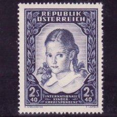 Sellos: AUSTRIA 817 CON CHARNELA, CORRESPONDENCIA INTERNACIONAL DEL NIÑO, . Lote 21401716