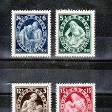 Sellos: AUSTRIA 499/502 CON CHARNELA, SOCORRO DE INVIERNO . Lote 23390812