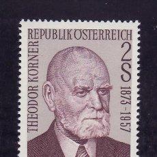 Sellos: AUSTRIA 1241 SIN CHARNELA, CENTENARIO NACIMIENTO DEL PRESIDENTE DE LA REPUBLICA THEODOR KORNER. Lote 162313700