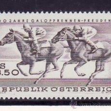 Sellos: AUSTRIA 1095 SIN CHARNELA, DEPORTE, CENTENARIO DE LAS CARRERAS HIPICAS DE FREUDENAU . Lote 21364252