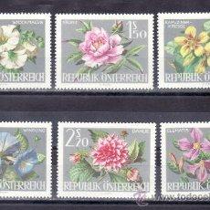Sellos: AUSTRIA 983/8 SIN CHARNELA, FLORES, EXPOSICION INTERNACIONAL DE HORTICULTURA EN VIENA,. Lote 21382570
