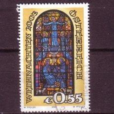 Sellos: AUSTRIA 2285 - AÑO 2003 - NAVIDAD - VIDRIERA DE LA IGLESIA DE HOHENEMS. Lote 21301089
