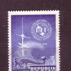 Sellos: AUSTRIA 1018 - AÑO 1965 - CENTENARIO DE LA UNION INTERNACIONAL DE TELECOMUNICACIONES. Lote 21380572