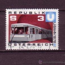Sellos: AUSTRIA 1397 - AÑO 1978 - INAGURACION DE LA PRIMERA LINEA DEL SEGUNDO METROPOLITANO DE VIENA. Lote 21380648