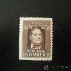 Sellos: AUSTRIA 1948 IVERT 694A *** PRESONAJES CELEBRES - POETA Y PINTOR - ADALBERT STIFTER. Lote 23650430
