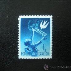 Sellos: AUSTRIA 1949 IVERT 777 *** EN HONOR DE LA U.N.I.C.E.F.. Lote 25455663