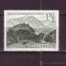 Sellos: AUSTRIA 923*** - AÑO 1960 - 40º ANIVERSARIO DEL PLEBISCITO DE CARINTIA - PAISAJES. Lote 24222958