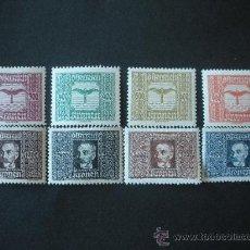 Sellos: AUSTRIA 1922 / 24 AEREO IVERT 4/11 *** PERSONAJES - WILHELM KRESS. Lote 24436078