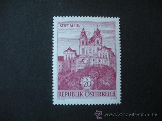 AUSTRIA 1963 IVERT 967 *** SERIE BÁSICA - ABADIA DE MELK - MONUMENTOS (Sellos - Extranjero - Europa - Austria)
