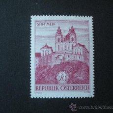Sellos: AUSTRIA 1963 IVERT 967 *** SERIE BÁSICA - ABADIA DE MELK - MONUMENTOS. Lote 24438654