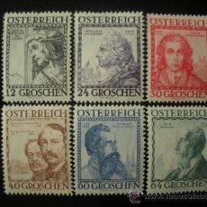 Sellos: AUSTRIA 1934 IVERT 460A/65 * PRO OBRAS DE BENEFICENCIA - ARQUITECTOS - PERSONAJES. Lote 26503858