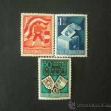 Sellos: AUSTRIA 1950 IVERT 788/90 *** 30 ANIVERSARIO DEL PLEBISCITO CARINTHIAN. Lote 25126824