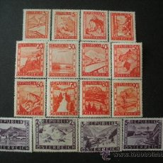 Sellos: AUSTRIA 1948 IVERT 697/711 *** SERIE BÁSICA - PAISAJES. Lote 27180273