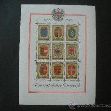 Sellos: AUSTRIA 1976 HB IVERT 9 *** MILENARIO DE AUSTRIA - ESCUDOS. Lote 26573273