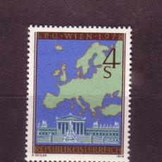 Sellos: AUSTRIA 1403** - AÑO 1978 - CONFERENCIA DE COOPERACIÓN Y SEGURIDAD EUROPEA - MAPAS. Lote 228368085