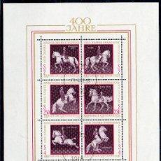 Sellos: AUSTRIA AÑO 1972 YV HB 7*º IV CENTº ESCUELA ESPAÑOLA DE EQUITACIÓN EN VIENA - CABALLOS - FAUNA . Lote 27292324