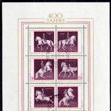 Sellos: AUSTRIA AÑO 1972 YV HB 7*º IV CENTº ESCUELA ESPAÑOLA DE EQUITACIÓN EN VIENA - CABALLOS - FAUNA. Lote 27292381