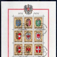 Sellos: AUSTRIA AÑO 1976 YV HB 9*º MILENARIO DE LA CREACIÓN DE AUSTRIA - HERÁLDICA - ESCUDOS. Lote 27292851