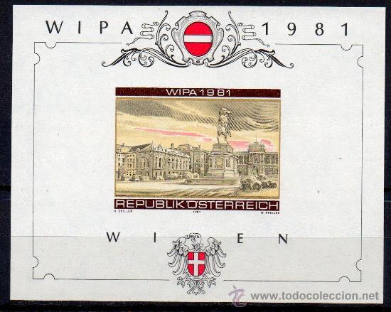 AUSTRIA AÑO 1981 YV HB 10*** S/D EXPO FILATÉLICA INTERNACIONAL EN VIENA WIPA'81 - ARQUITECTURA (Sellos - Extranjero - Europa - Austria)