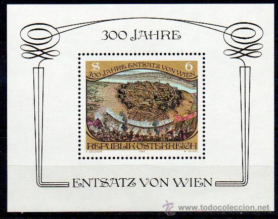 AUSTRIA AÑO 1983 YV HB 11*** 300 ANIVº DEL ASEDIO OTOMANO DE VIENA - ARTE - PINTURA (Sellos - Extranjero - Europa - Austria)