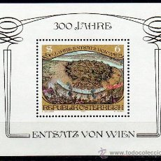 Sellos: AUSTRIA AÑO 1983 YV HB 11*** 300 ANIVº DEL ASEDIO OTOMANO DE VIENA - ARTE - PINTURA. Lote 27296966