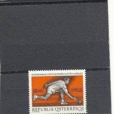 Sellos: AUSTRIA 1976, YVERT Nº 1341**, CAMPEONATO DEL MUNDO DE . Lote 27706161