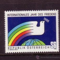 Sellos: AUSTRIA 1665*** - AÑO 1986 - AÑO INTERNACIONAL DE LA PAZ. Lote 28267379