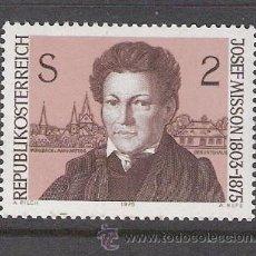 Sellos: AUSTRIA 1975 - CENTENARIO MUERTE DEL POETA JOSEPH MISSON - YVERT 1318 ***. Lote 31022816