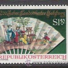 Sellos: AUSTRIA 1975 - 2º CENTENARIO TEATRO SALZBURGO - YVERT 1327 ***. Lote 31022853