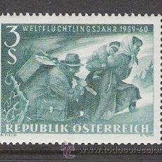 Sellos: AUSTRIA 1960 - AÑO MUNDIAL DEL REFUGIADO - YVERT 915 ***. Lote 31023039