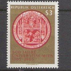Sellos: AUSTRIA 1965 - VI CENTENARIO DE LA UNIVERSIDAD DE VIENA - YVERT 1017 ***. Lote 31023177