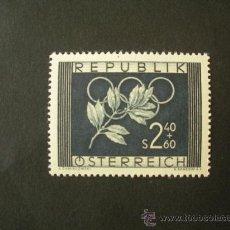 Sellos: AUSTRIA 1952 IVERT 809 *** JUEGOS OLIMPICOS DE OSLO EN HELSINKI - DEPORTES. Lote 31865894