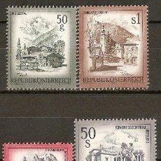 Sellos: AUSTRIA YVERT NUM. 1303/1306 ** SERIE COMPLETA SIN FIJASELLOS. Lote 34962257