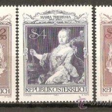Sellos: AUSTRIA YVERT NUM. 1467/9 ** SERIE COMPLETA NUEVA SIN FIJASELLOS. Lote 34972236