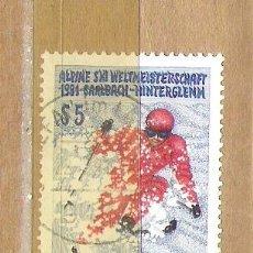 Sellos: SELLOS - LOTE 1 SELLO USADO - AUSTRIA ( DEPORTES - CAMPEONAT SKI 1991 ) . Lote 35719447