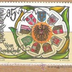 Sellos: SELLOS - LOTE 1 SELLO USADO - AUSTRIA ( BANDERAS O ESCUDOS AUSTRIACOS ) . Lote 35719474