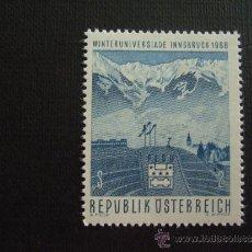 Sellos: AUSTRIA Nº YVERT 1090*** AÑO 1968. UNIVERSIADA DE INVIERNO, EN INNSBRUCK. Lote 37148088