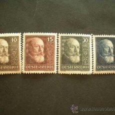 Sellos: AUSTRIA 1938 IVERT 374/7 * 10º ANIVERSARIO DE LA REPUBLICA - PRESIDENTE HAINISCH. Lote 37287542