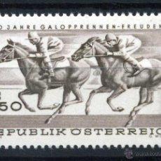 Sellos: AUSTRIA MI 1265 ** - AÑO 1968 - 100 AÑOS CARRERAS DE CABALLOS EN FREUDENAU, 1V. Lote 39301322