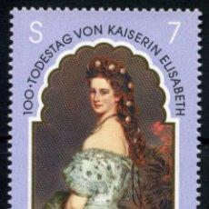 Sellos: AUSTRIA MI 2265 ** - AÑO 1998 - CENTENARIO MUERTE DE ELISABETH (SISSI): EMPERATRIZ DE AUSTRIA, 1V. Lote 140225272
